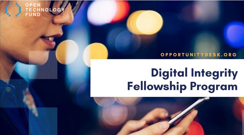 Apply for OTF's Digital Integrity Fellowship Program 2018