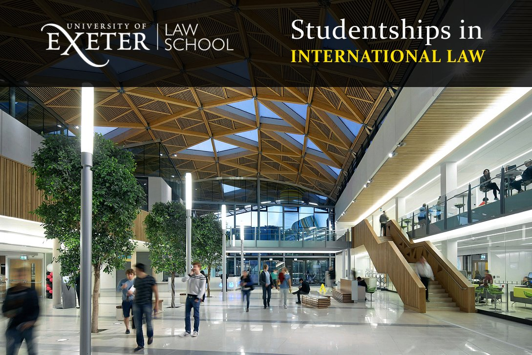 SWW AHRC Funded Studentship to Study at Exeter Centre for International Law 2018