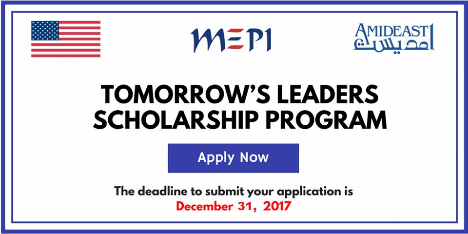 US-MEPI Tomorrow's Leaders Scholarship Program 2018 (Fully-funded to Study in the US)