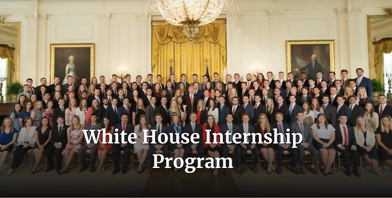 White House Internship Program – Summer 2018