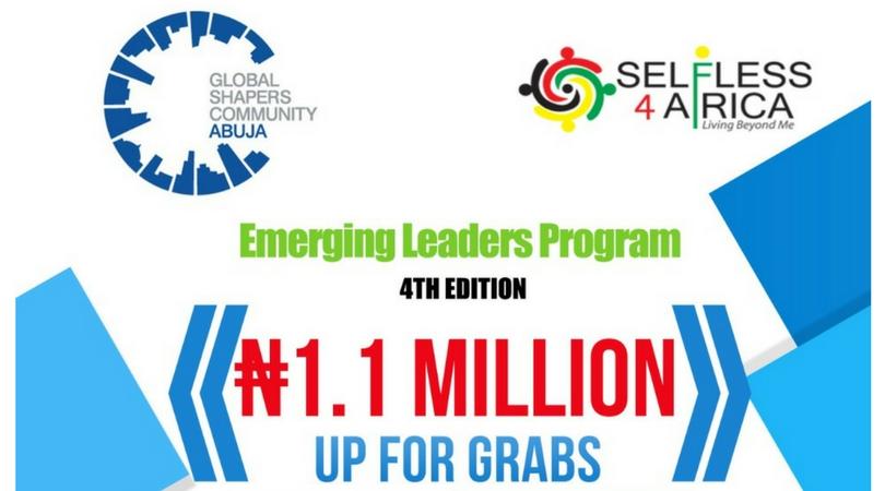 Abuja Global Shapers/Selfless4Africa Emerging Leaders Program 2018 (N1.1million Prize)