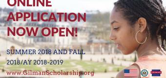Study Abroad with Benjamin A. Gilman International Scholarship Program 2018/2019