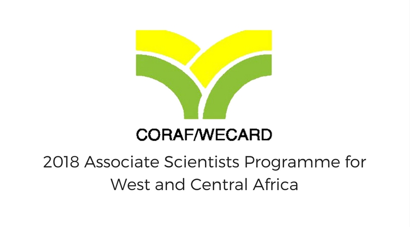 CORAF/WECARD Associate Scientists Programme for West/Central Africa 2018 (Fully-funded to Dakar, Senegal)