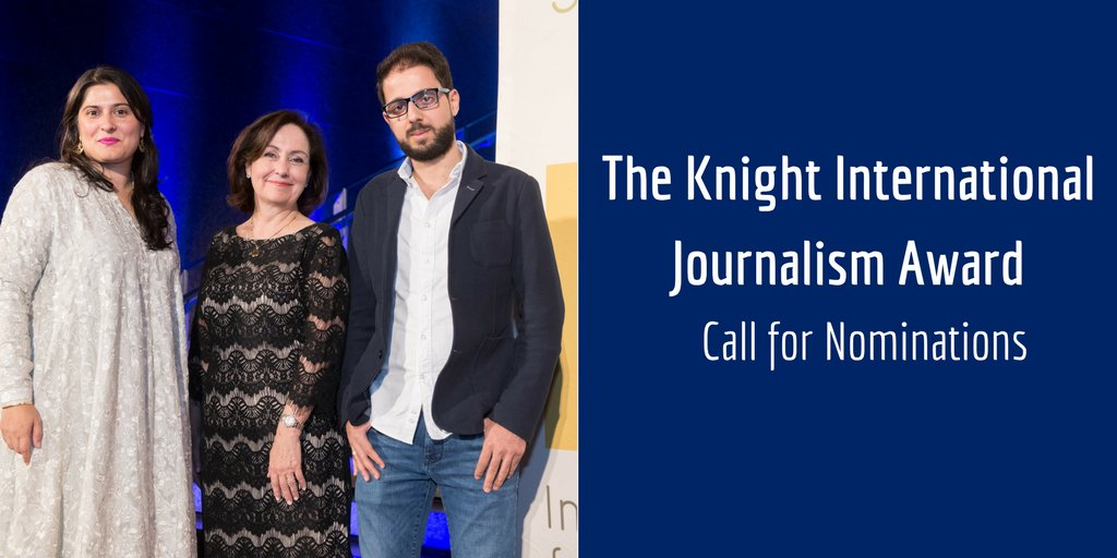 ICFJ Knight International Journalism Awards 2018 (Winners receive $10,000 & trip to the United States)