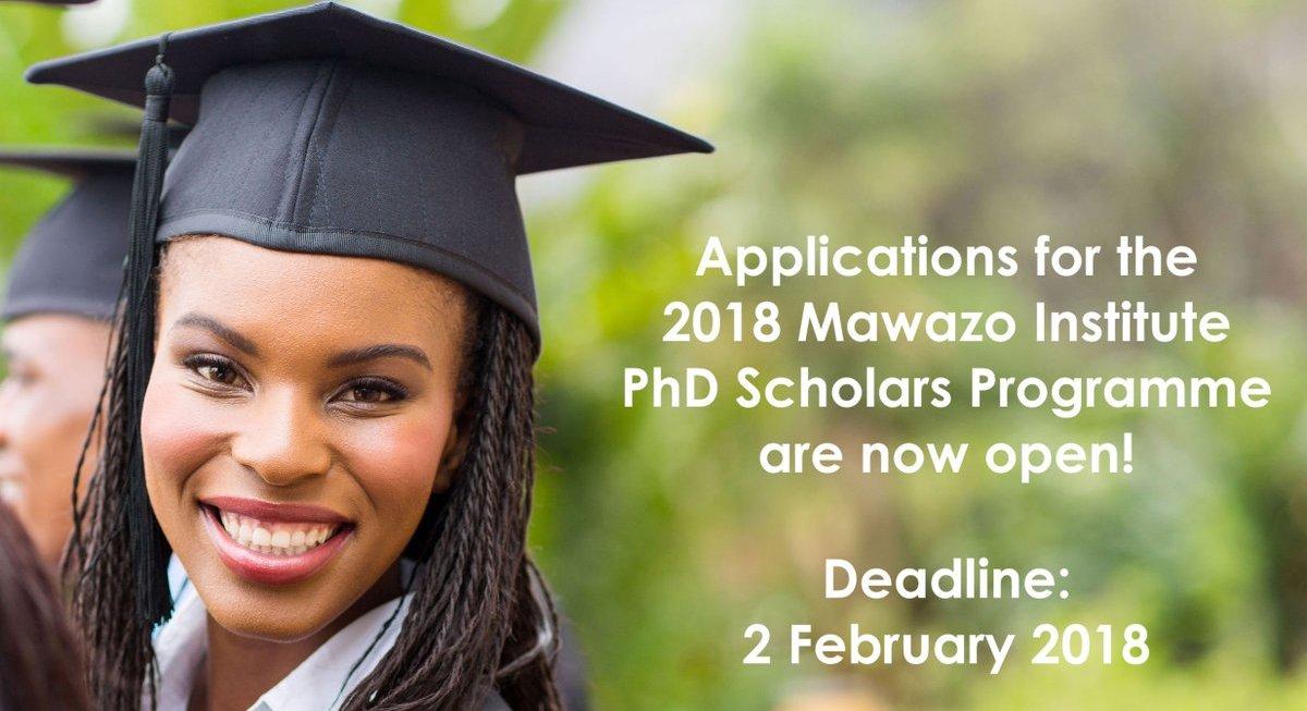Mawazo PhD Scholars Programme 2018 (Fully-funded Fellowship in Nairobi, Kenya)