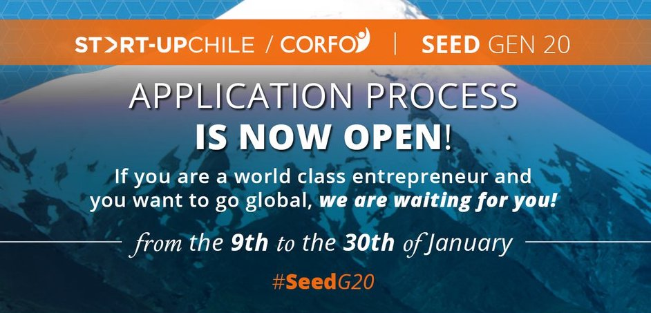 Start-Up Chile Acceleration Program 2018 for early-stage Entrepreneurs Worldwide