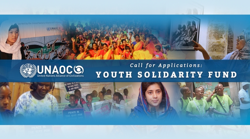 UNAOC Youth Solidarity Fund 2018 for Youth-led Organizations!