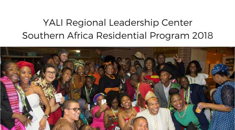 YALI Regional Leadership Center Southern Africa Residential Program 2018 (Cohort 13 & 14)
