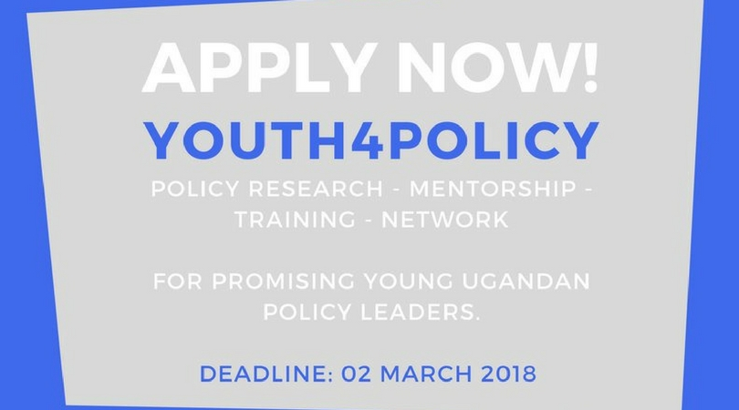 2018 Konrad-Adenauer-Stiftung Youth4Policy Fellowship for Ugandans