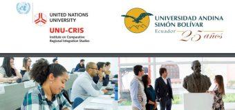 7th Doctoral School on Latin American, European and Comparative Regionalism in Quito, Ecuador