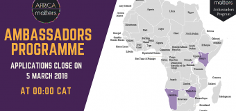Apply for the Africa Matters Initiative Ambassadors Program 2018