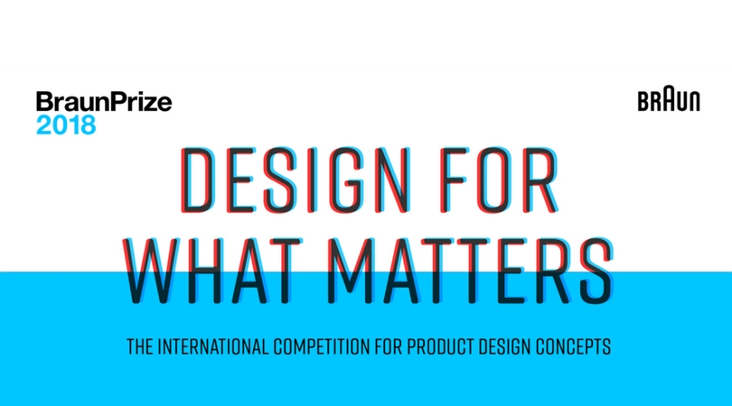 BraunPrize International Competition for Product Design Concepts 2018