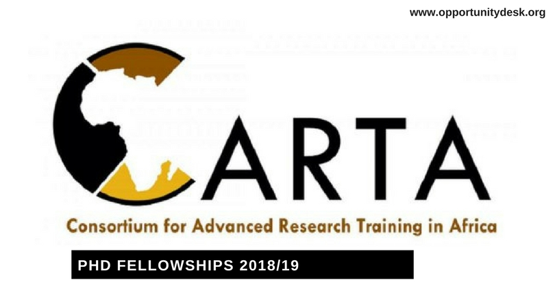 Call for Application: CARTA PhD Fellowships 2018/2019 (Funding Available)
