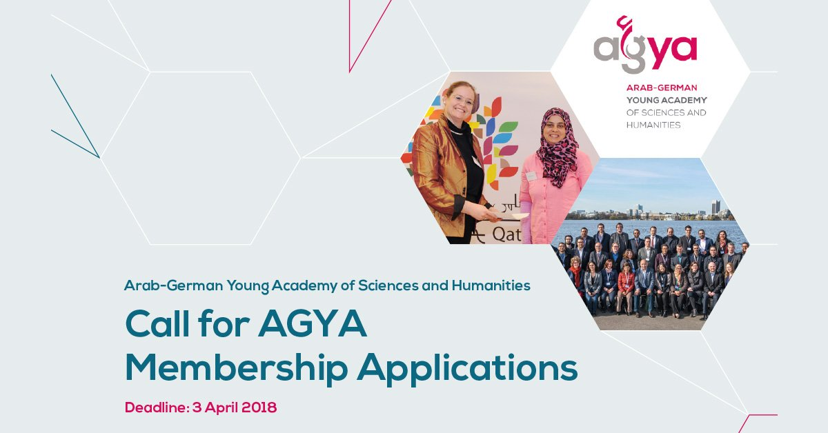 Call for Membership 2018: Arab-German Young Academy of Sciences and Humanities!