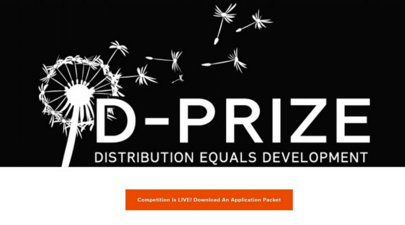 D-Prize Global Competition 2018 for Aspiring Entrepreneurs Worldwide (Win up to $20,000)