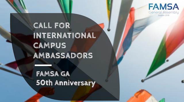 Call for International Campus Ambassadors – Federation of African Medical Students Association (FAMSA)