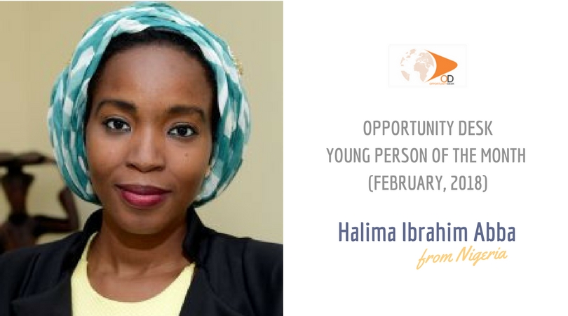 Halima Ibrahim Abba from Nigeria is OD Young Person of the Month for February 2018!