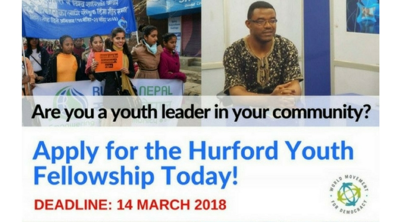 Apply for the Hurford Youth Fellowship Program 2018/19 (Fully-funded to Washington D.C.)