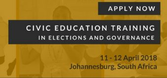 Apply for MINDS 2018 Southern Africa Regional Civic Education Workshop (Fully-funded to South Africa)