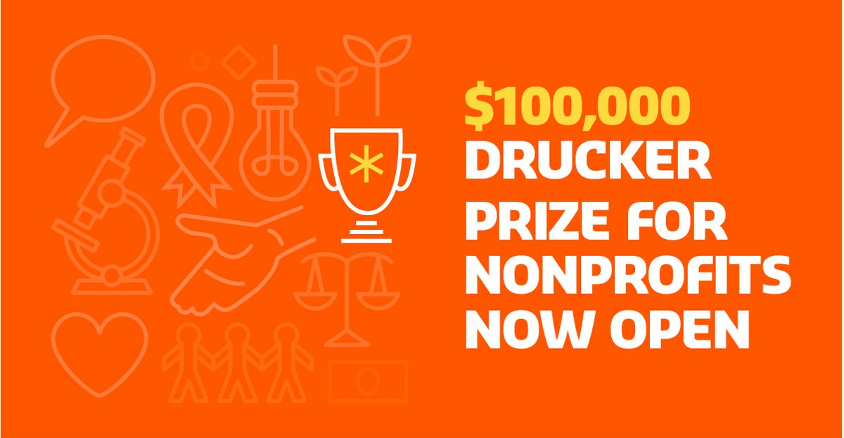 The Drucker Prize for Nonprofits 2018 – $100,000 Award and more!