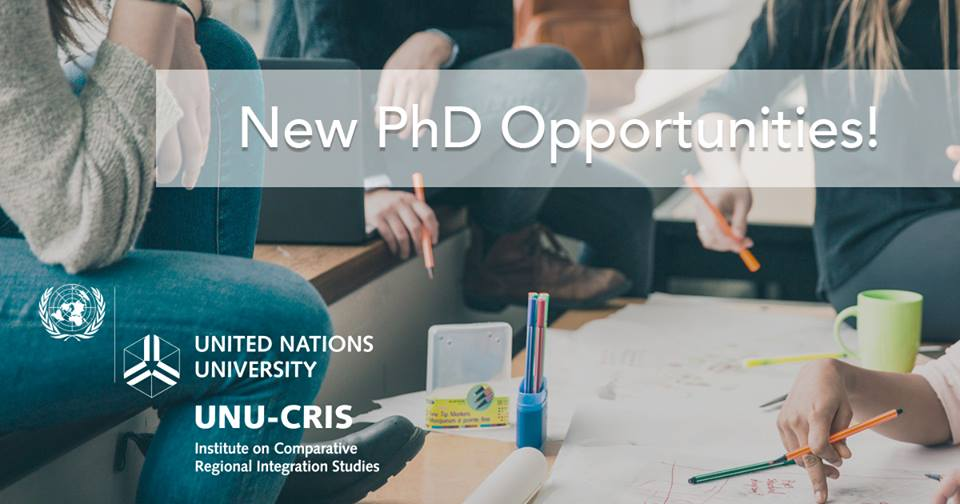 Apply for UNU-CRIS PhD Research Scholarships 2018