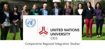 UNU-CRIS Traineeship Programme 2018 for Undergraduates