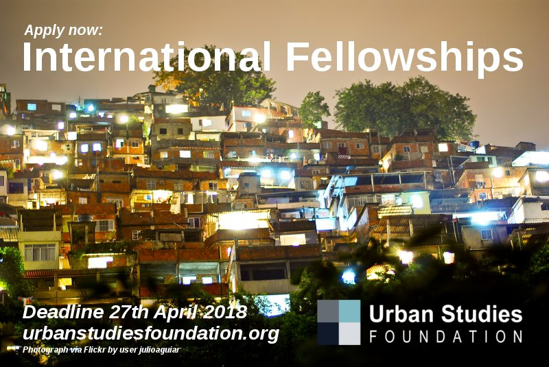 Urban Studies Foundation International Fellowships for Urban Scholars from the Global South 2018
