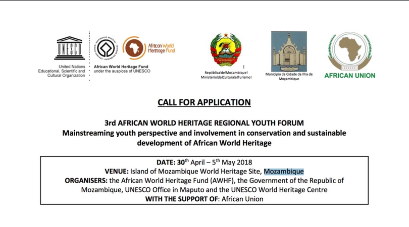APPLY: 3rd African World Heritage Regional Youth Forum 2018 in Mozambique (Fully-funded)