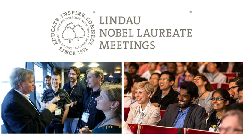 Call for Nominations: 69th Lindau Nobel Laureates Meeting 2019 for early-career South African students and researchers