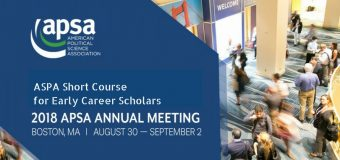 APSA Short Course for Early Career Scholars from Lower & Middle-income Countries (Fully-funded to Boston, MA)