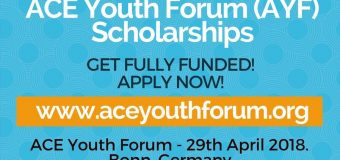 Action for Climate Empowerment (ACE) Youth Forum Scholarships 2018 (Fully-funded to Germany)