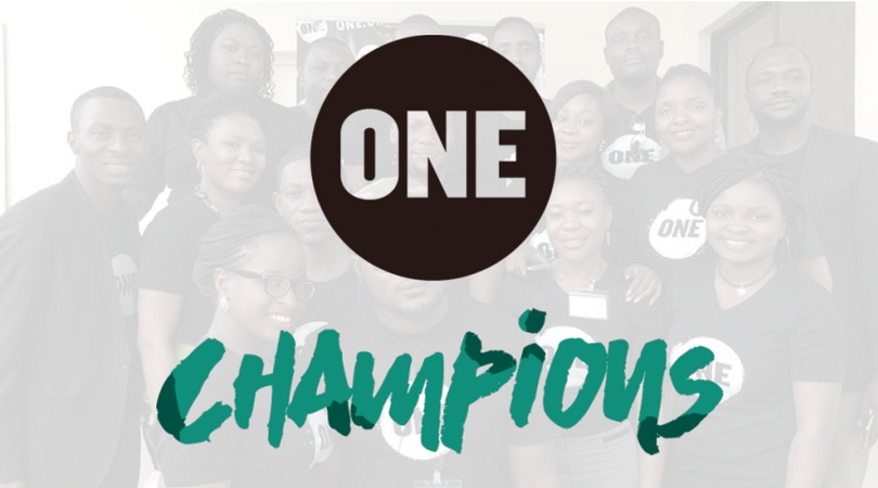 Apply to become a ONE Champion in Nigeria