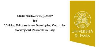 CICOPS Scholarships 2019 for Visiting Scholars from Developing Countries to carry out Research in Italy