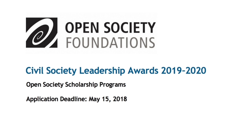 Apply for Civil Society Leadership Awards 2019/20 (Fully-funded Master's Scholarships)