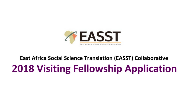 EASST Collaborative Visiting Fellowship 2018 for East African Researchers (Fully-funded to UC Berkeley)