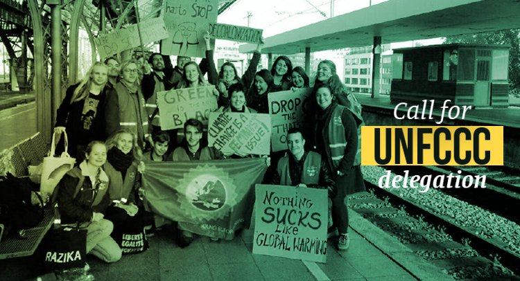 Federation of Young European Greens (FYEG) Call for UNFCCC Delegation 2018