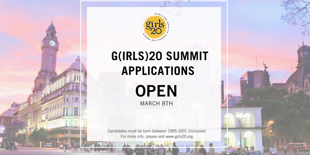Apply to attend G(irls)20 Global Summit 2018 in Argentina (Fully-funded)