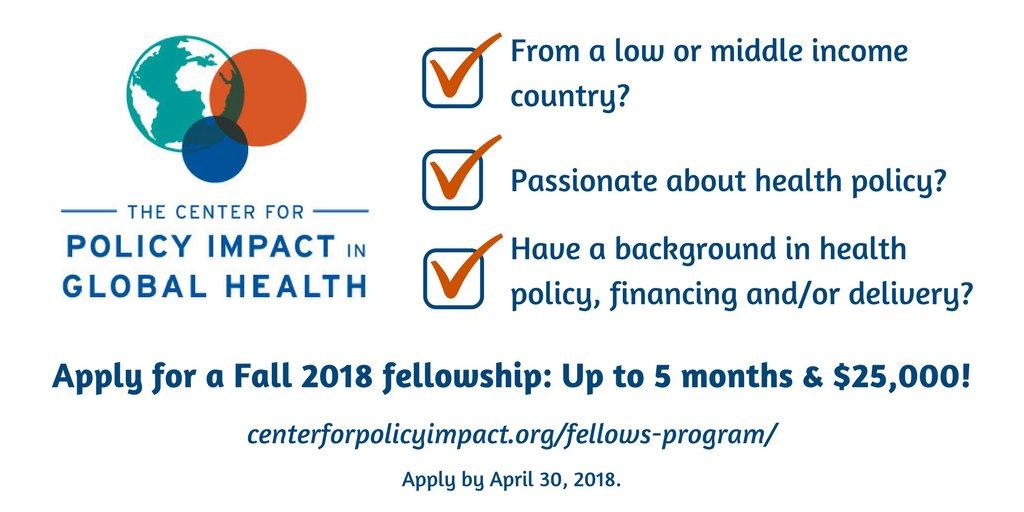 Global Health Policy Fellows Program 2018