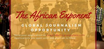 Global Journalism Opportunity at The African Exponent (Paid)