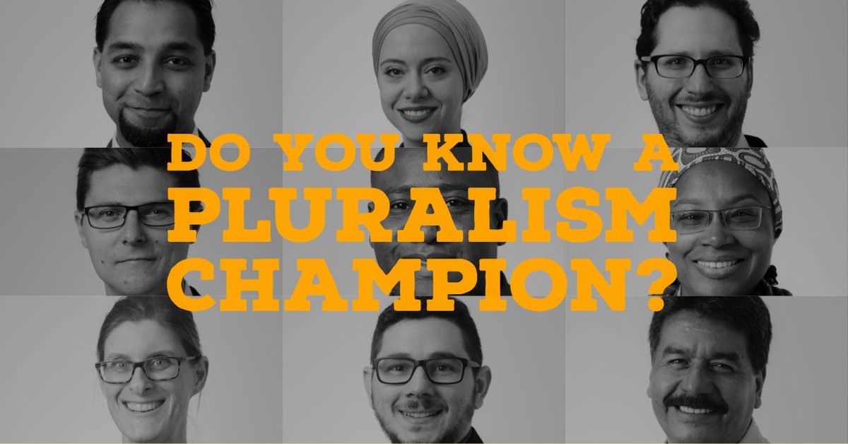Global Pluralism Award 2019 for Individuals and Organizations Worldwide ($50,000 CAD Prize)