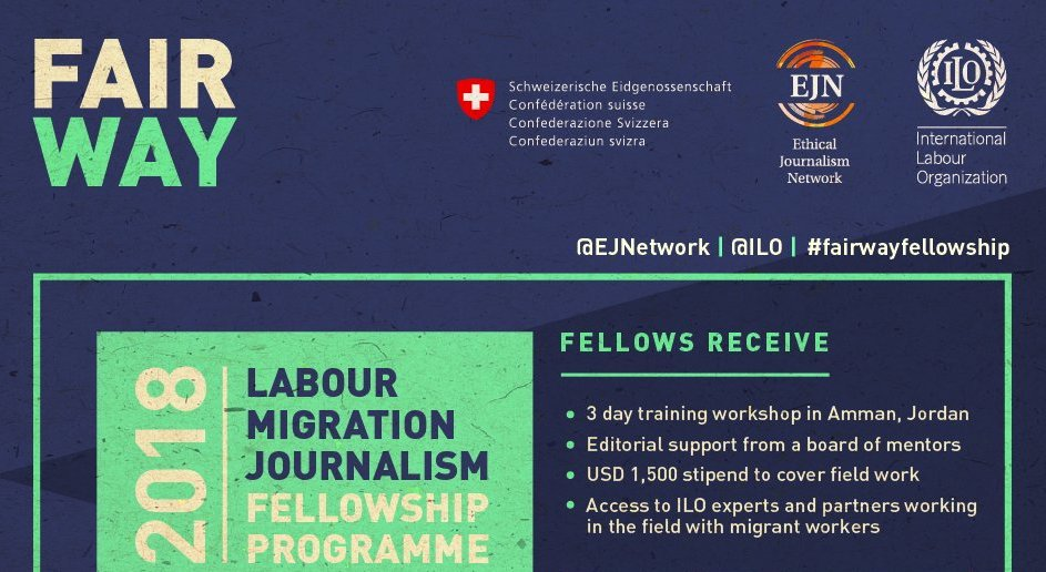 ILO-EJN Labour Migration Journalism Fellowship 2018