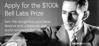 Nokia Bell Labs Prize – Global Competition for Innovators 2018 (Up to $100K in Prizes)
