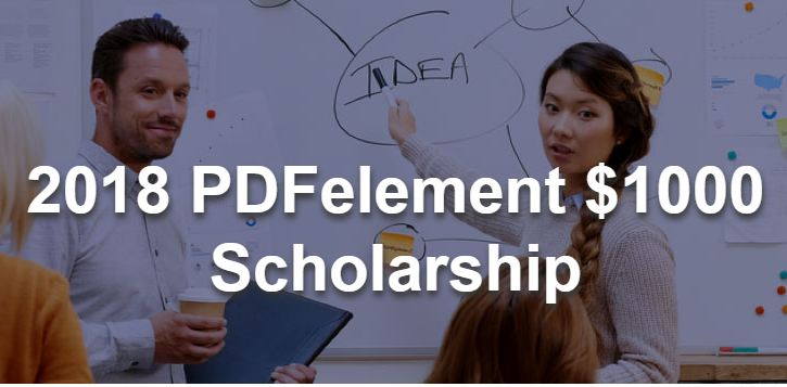 PDFelement Scholarship Program 2018 (Worth $1000)