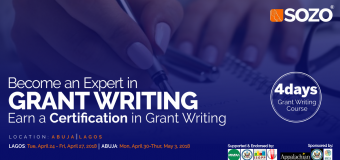 Sozo-AppState Grant Writing Course in Nigeria 2018 (Funded)
