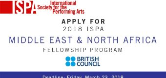 International Society for the Performing Arts (ISPA) MENA Fellowship Program 2018 (Funded to the Congress)