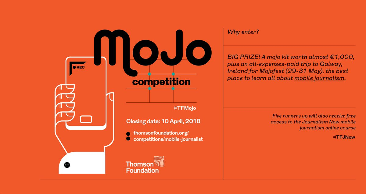 Thomson Foundation Mobile Journalism Competition 2018 (Win a fully-funded trip to Ireland for Mojofest)