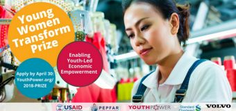 USAID Young Women Transform Prize 2018 (Up to $35,000 for youth-led or youth-serving organizations)