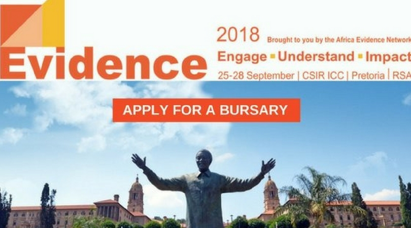 3ie Bursaries for African Researchers & Policymakers to attend Evidence Conference 2018 in South Africa