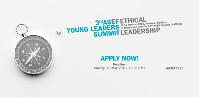 3rd ASEF Young Leaders Summit in Brussels, Belgium (Funded)