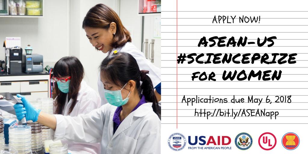 ASEAN – U.S. Science Prize for Women 2018 ($25,000 in Awards)
